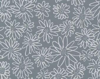 Blueberry park cotton fabric titanum grey by Karen Lewis by Robert Kaufman AWI -15747 357