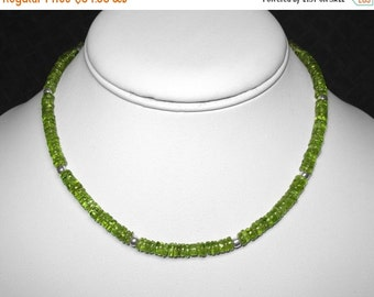 Peridot Necklace in Silver