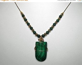 Malachite Liquid Gold Necklace