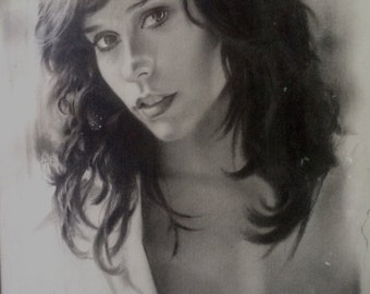 Art & Collectibles, Drawing, Original Artwork, Pencil Sketch, Graphite on Paper, Art by The Artist Rafael of Las Vegas