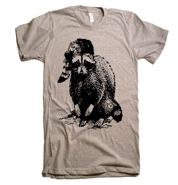 Ricky Raccoon T Shirt - American Apparel Tshirt - XS S M L XL 2XL (15 Color Options)