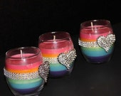 Rainbow Gay Lesbian Wedding Candles Favors Centerpieces LGBT Pride Gift
