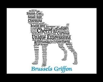 Brussels Griffon Smooth,Brussels Griffon Art, Brussels Griffon Artwork, Brussels Griffon Print, Brussels Griffon Lover, Brussels Smooth Gift