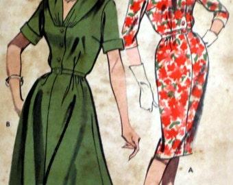 Uncut Vintage 1960s Dress Pattern Bust 35 Slimliner Dress Butterick 9734