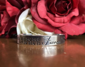 Though She Be But Little She is Fierce Childs Bangle