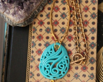 Blue skies, Golden Sun Perfect for a Bike Ride Necklace