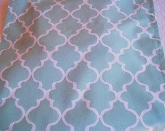 Mint and White Slub Fabric Tea Towel