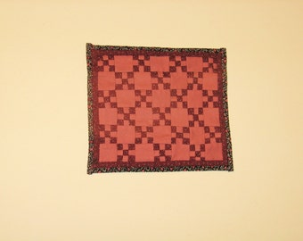 Handmade miniature quilt for dollhouse - 1/12th scale