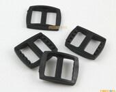 100 Pieces 15mm Black Plastic Tri-Glide Slider Adjustable Buckle for Bag Backpack Strap (RBCNO70)