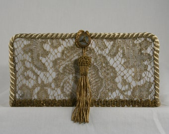 Antique Lace Wedding Clutch