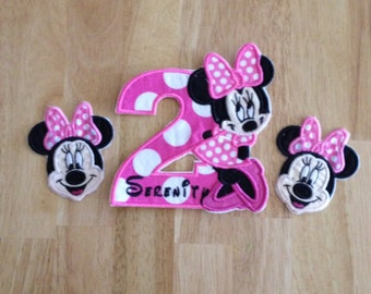 Minnie iron on patches DIY