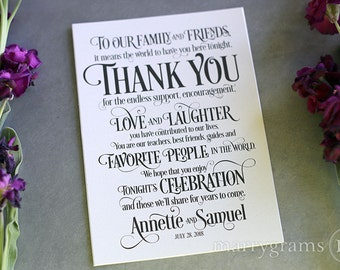 Wedding Gift Table Thank You Poem : Welcome Wedding Weekend Card Perfect for Hotel Baskets and