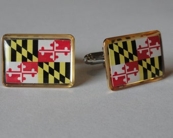 All State Flag Cufflinks-- CHOOSE YOUR STATE!!