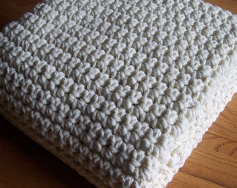 "Extra Large Chunky Afghan Blanket Easy Crochet PATTERN 50"" x 72""/(127 x 183) cm - PDF 5072"