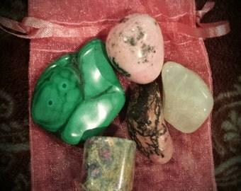 Heart Chakra Crystal Healing Kit