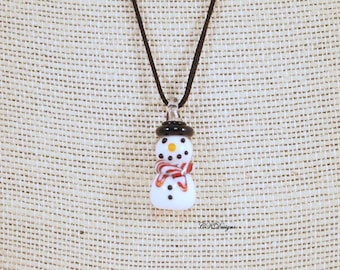 SALE Snowman Christmas Necklace, Snowman Necklace, Winter Necklace, Holiday Snowman Jewelry, Handmade Christmas Necklace. CKDesigns.us
