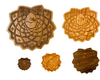 Laser-Engraved Wood Stickers