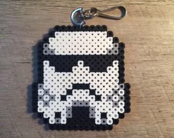 Star Wars Stormtrooper Fuser Perler Beads Keychain Lanyard Ornament Magnet