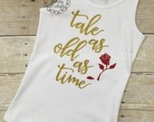 Beauty and the Beast Inspired Top, bodysuit, tank, shirt, adults, teens, babies, toddler