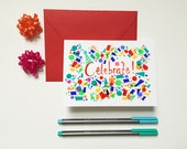 Celebrate with confetti- blank special occasion note card