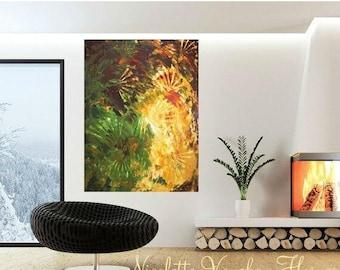 SALE ORIGINAL HUGE Abstract Landscape  Oil Painting Thick Texture Gallery Fine Art -Nicolette Vaughan Horner