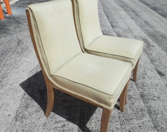 SIDE BY SIDE / Pair Of Heywood Wakefield Side Dining Chairs / Mid Century / No Repairs Needed