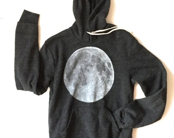 unisex FULL MOON goth hooded SWEATSHIRT super soft hoodie unisex all sizes