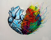 """Hearts - 8""""x10"""" signed art print - 100% of the Proceeds go to Pulse Victims Fund GoFundMe"""