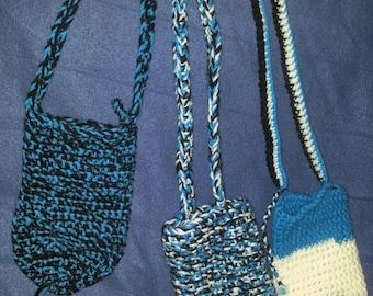 Crocheted water bottle holders/small purses