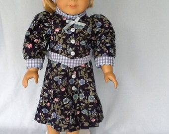 Doll dress for 18 inch dolls. Will fit American Girl Doll. Pleated floral dress and headband.