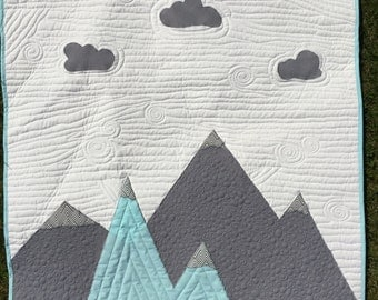 MADE TO ORDER- Mountain Crib Quilt