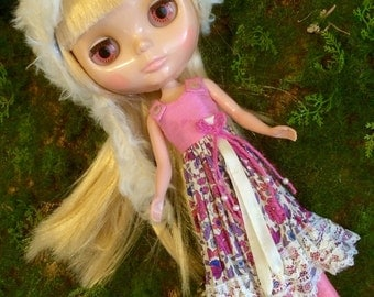 Pink Spring: a silk and Liberty dress for Blythe