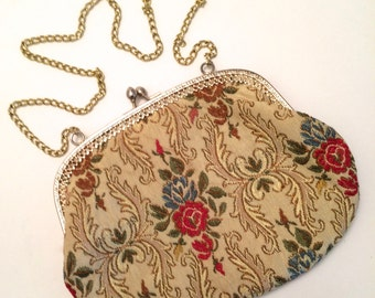 Brocade Purse Vintage Fabric Purse