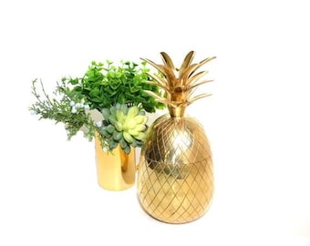 Pineapple Bar Pineapple Box Pineapple Candle Holders Pineapple Brass Pineapple Gold Palm Beach Decor Ananas
