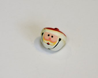 Santa Jingle Bell, Hand Painted St Nicholas Face Ringing Bell Pendant, Ornament, Embellishment Jewelry Craft Supply, 22mm itsyourcountry
