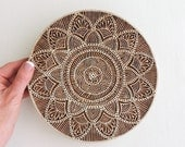 Huge Mandala Stamp or Plaque, Circle Flower Stamp, Sacred Geometry, Hand Carved Wooden Stamp, Indian Printing Block, Textile or Clay Stamp