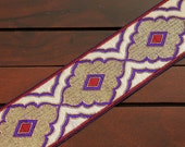 1 Yard-White Fabric Jacquard Trim-Multi Color Brocade Fabric Trim-Sari Border-Table Runner Trim-Designer Silk Sari Fabric Trim By The Yard