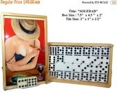"Fall Sale Professional Dominoes Set double Nine with ""Soledad"" Artwork. Five designs to choose"