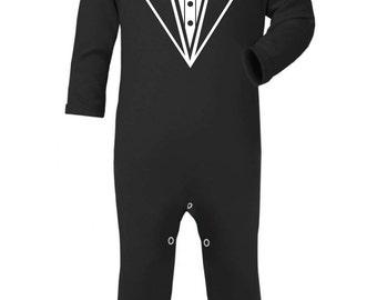 Tuxedo Suit Baby Rompa