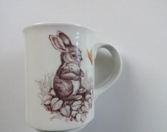 Vintage Otagiri Rabbit Coffee Mug 1980s