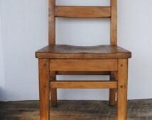 Vintage Wooden Childs Chair W.H. Gunlocke Chair Company Wayland New York