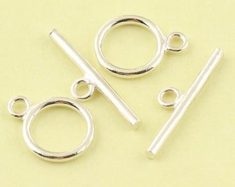 2 Sets 925 sterling silver Toggle Clasps, Large Toggle Clasp, Nickel Free, Lead Free