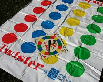 Twister, Board Game, Party Game, Milton Bradley Twister, Family Game Night Twister, Interactive Game, 1960s Game