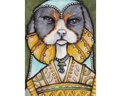 Original ACEO spaniel dog, Sapphire of Spaniel House