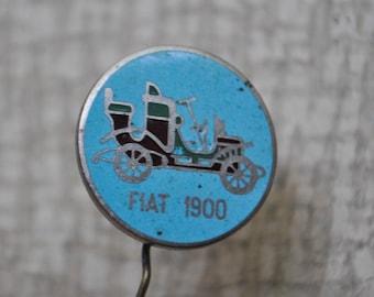 """Vintage Soviet Russian enamel badge,pin.""""FIAT 1900"""""""