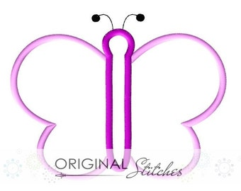 Butterfly Applique and Machine Embroidery Digital Design File 4x4 5x7 6x10