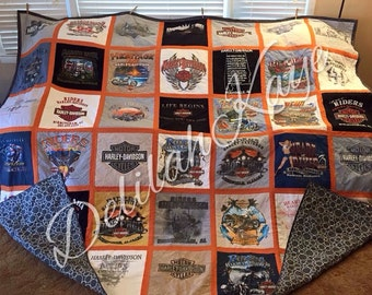 T-shirt Quilt Choose Size Your T-shirts Memory Quilt