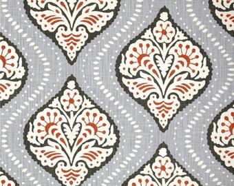 Two  96 x 50   Custom Curtain Panels - Robert Allen Kavali Persimmon NEW
