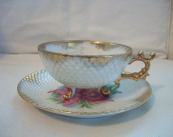 Vintage Norcrest Fine China Tea Cup And Saucer Set