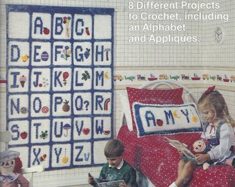 """The Leisure Arts """"A"""" is for Apple Crochet Pattern Booklet."""